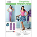 Simplicity Pattern 1368A 6-8-10-12--Misses Skirts Pants