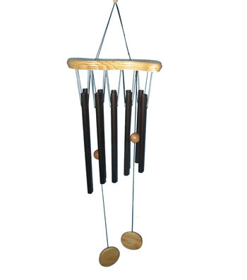 Hello Spring Gardening Long Wood Top Wind Chime-Bronze