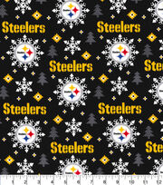 Pittsburgh Steelers Christmas Flannel Fabric-Holiday, , hi-res