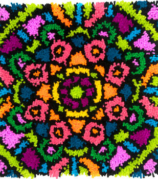 "Colorful Latch Hook Kit 16""X16""-Mandala"