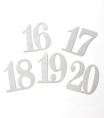 Glitter Table Numbers 13-24