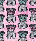 Snuggle Flannel Fabric -Intellectual Pups