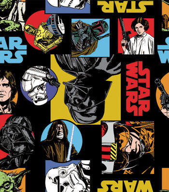 Star Wars Fleece Fabric 58''-Cartoon Characters