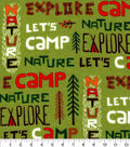 Snuggle Flannel Fabric-Lets Camp Words
