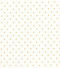 Quilter\u0027s Showcase Cotton Fabric 44\u0022-Yellow Dot On White