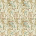 Novelty Cotton Fabric-Map Exploration