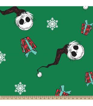Nightmare Before Christmas Fleece Fabric-Santa Jack Head Toss