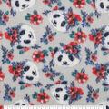 Anti-Pill Plush Fleece Fabric-Floral Panda Tossed