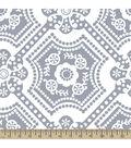 Anti-Pill Fleece Fabric 59\u0022-Silver Dot Medallion