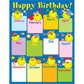 Carson-Dellosa Smiley Face Birthday Chart 6pk