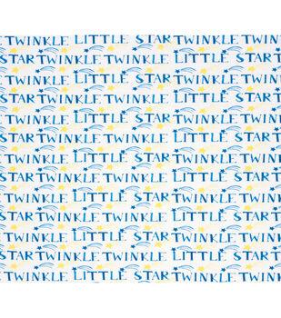 Nursery Flannel Fabric-Stars Twinkle