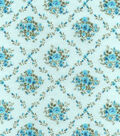 Snuggle Flannel Fabric -Blue Floral