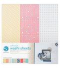 Silhouette Adhesive-Back Washi Paper 12\u0022X12\u0022 3/Pkg-9 Designs, Each 4\u0022X12\u0022
