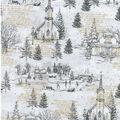 Christmas Cotton Fabric-Christmas Time Gray
