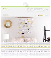 Cricut 10 Pack 12''x12'' Deluxe Papers-Pastel Geometrics, , hi-res