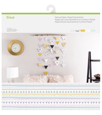 Cricut 10 Pack 12''x12'' Deluxe Papers-Pastel Geometrics