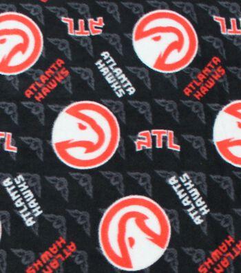 Atlanta Hawks Fleece Fabric -Logo Toss