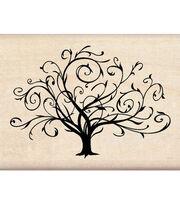Inkadinkado Rubber Stamp-Flouished Fall Tree, , hi-res