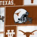 University of Texas Longhorns Fleece Fabric -Block