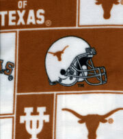 University of Texas Longhorns Fleece Fabric 58''-Block, , hi-res