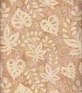 Batik Cotton Fabric 44\u0022-Leaves And Vines Ivory