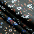 Downtown Collective Anti-Static Lining Fabric-Floral Vines on Black