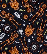 Halloween Star Wars R2-D2 & C-3PO Cotton Fabric 44''-Glow, , hi-res