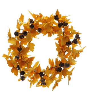 Blooming Autumn Large Wreath-Yellow