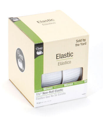 "Dritz 1 1/2"" Non Roll Elastic By-the-Yard- White"