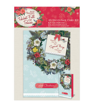 Card making card making supplies kits joann papermania pocket full of posies a5 decoupage card kit m4hsunfo