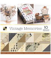 DCWV Vintage Memories 36 pk 12''x12'' Cardstock Stack, , hi-res