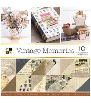 DCWV Vintage Memories 36 pk 12''x12'' Cardstock Stack