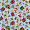 Christmas Cotton Fabric-Holly Presents
