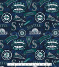 Seattle Mariners Cotton Fabric -Vintage