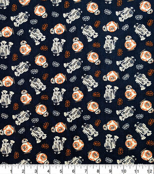 Star Wars Cotton Fabric-BB8 and R2D2