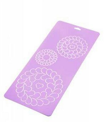 Quilt Stencil-Feather Circles