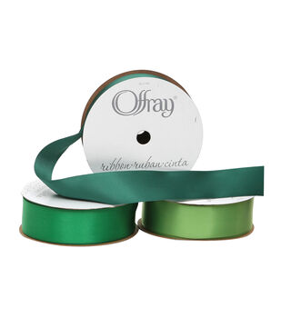 "Offray 7/8""x21' Single Faced Satin Solid Ribbon"
