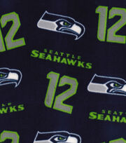 Seattle Seahawks Fleece Fabric -Blue, , hi-res