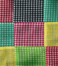 Warm Weather Apparel Fabric-Patchwork Gingham Check Multi