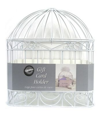 Wilton Wedding Reception Gift Card Holder Cage-White
