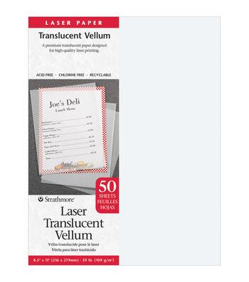 "Strathmore Laser Translucent Vellum 8.5""X11""-50 Sheets"