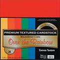 Core\u0027dinations Value Pack Cardstock 12\u0022X12\u0022 20/Pkg-Over The Rainbow-Textured