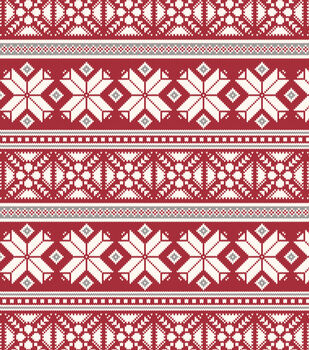 Handmade Holiday Christmas 52''x90'' Tablecloth-Fair Isle