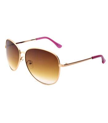 Brown Gold White Two Tone Sunglasses