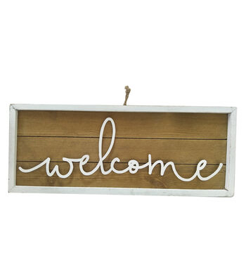 Simply Spring Wooden Sign Wall Decor-Welcome