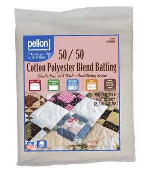 Pellon 50/50 Cotton Poly Blend Batting-Queen