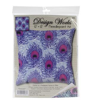 Design Works Crafts 12''x12'' Needlepoint Kit-Peacock