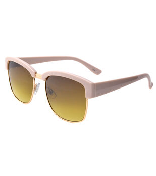Large Sunglasses-Brown & Pink