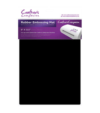 Crafters Companion Gemini 9''x12.5'' Rubber Embossing Mat-Black