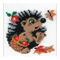 RIOLIS 6\u0027\u0027x7\u0027\u0027 10-count Counted Cross Stitch Kit-Hedgehog in Basket